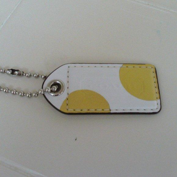 3''' Coach Gold Polka Dot Hang Tag/Charm